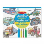 Jumbo Colouring Pad Vehicles Blue - Melissa & Doug
