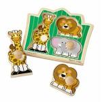 3 pc - Jungle Puzzle Chunky Knobs - Melissa & Doug  NEW