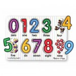 10 pc Melissa & Doug - Number Pin Puzzle