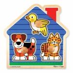 3 pc - Pet Puzzle Chunky Knobs - Melissa & Doug  NEW