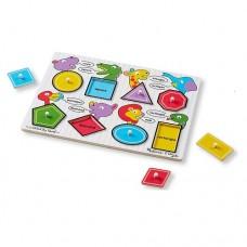 8 pc Melissa & Doug - Shapes Pin Puzzle