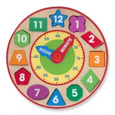 Shape Sorter Clock Wooden - Melissa & Doug