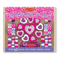 Bead Set Shimmering Hearts Wooden - Melissa & Doug