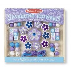 Bead Set Sparkling Flowers Wooden  - Melissa & Doug