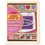 Stamp Set - Butterfly & Hearts - Melissa & Doug