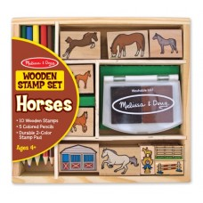 Stamp Set - Horses - Melissa & Doug * BONUS Drawing Pad