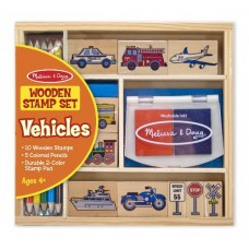 Stamp Set - Vehicles - Melissa & Doug BONUS Drawing Pad