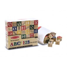 Blocks Wooden ABC123  - Melissa & Doug