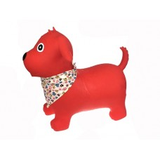 Bouncy Rider - Red Dog with Scarf