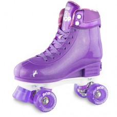 Roller Skates - Glitter Pop Adjustable Skates - Size 3 - 6 - Purple