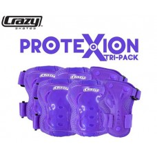ProteXion Tri-Pack Kids - Purple - Wrist, Elbow, Knee Protection