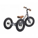 Try Bike - 2 in 1 Metal Balance Bike and Trike - GREY