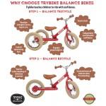 Try Bike - 2 in 1 Metal Balance Bike and Trike - RED