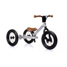 Try Bike - 2 in 1 Metal Balance Bike and Trike - SILVER