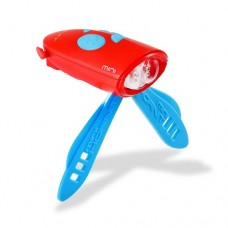 Mini Hornit - Bike/Scooter Light and Horn Red/Blue