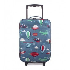 Wheelie Bag Kids Suitcase- Space Monkey - Penny Scallan