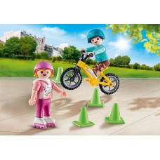 Children with Skates & Bike - Playmobil  NEW in 2020 COMING SOON