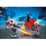 Fire Fighters with Water Pump - Playmobil City Action Fire