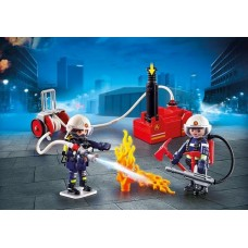 Fire Fighters with Water Pump - Playmobil City Action Fire NEW in 2019