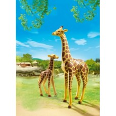 Giraffe with Calf - Playmobil City Life Zoo *