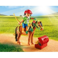 Groomer with Bloom Pony - Playmobil Pony Farm  *