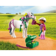 Groomer with Heart Pony - Playmobil Pony Farm  *