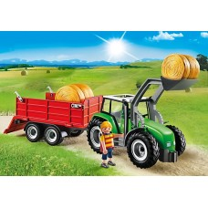 Large Tractor & Trailer - Playmobil Country Farm *