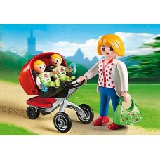 Mother with Twin Stroller - Playmobil