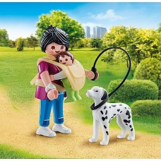 Mother with Baby & Dog - Playmobil