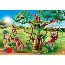 Orangutans with Tree - Playmobil City Life Zoo  NEW in 2021