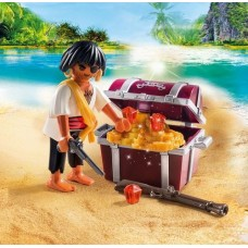 Pirate with Treasure Chest - Playmobil Pirates NEW in 2019
