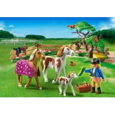 Paddock with Horses and Foal - Playmobil Pony Farm  *