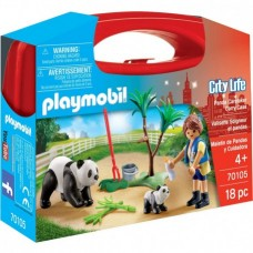 Panda Caretaker Carry Case - Playmobil City Life Zoo  NEW in 2021 LIMITED STOCK