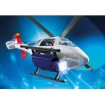 Police Helicopter with LED Searchlight - Playmobil City Action Police