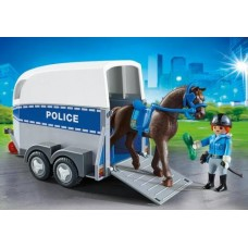 Police with Horse and Trailer - Playmobil City Action Police
