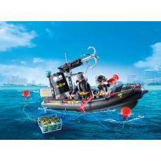 SWAT Team Boat - Playmobil  LIMITED STOCK