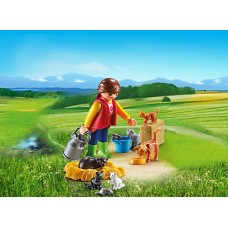 Woman with Cat - Playmobil Country Farm