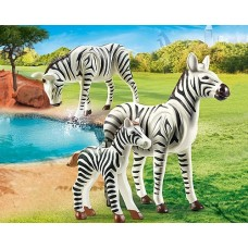 Zebras with Foal - Playmobil City Life Zoo  NEW in 2021
