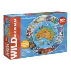 100 pc Blue Opal Puzzle - Wild Australia - Desert to the Sea