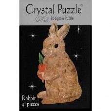 3D Crystal Puzzle - Brown Rabbit