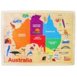48 pc Australian Map Wooden Puzzle - Fun Factory