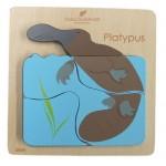 Chunky Wooden Puzzle 4 pc - Australian Animal - Platypus