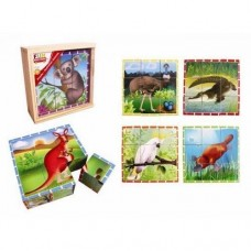Cube Puzzle Wooden - Australian Animals - Fun Factory