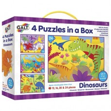 Dinosaur Puzzles - 4 in a Box - Galt
