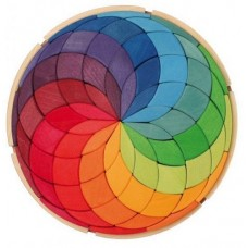 Coloured Spiral - Large Wooden Puzzle - Grimm's Toys