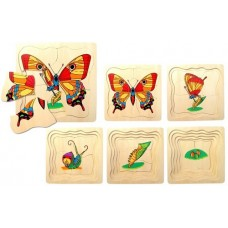 Lifecycle of a Butterfly - Wooden Layer Puzzle
