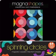 MagnaShapes Wooden - Spinning Circles - Gamewright