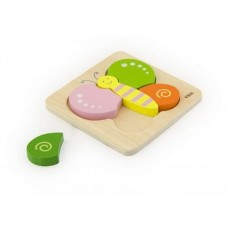 Chunky Wooden Puzzle 5 pc - Butterfly - Viga Toys