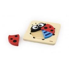 Chunky Wooden Puzzle 4 pc - Ladybird - Viga Toys