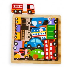 Vehicle Wooden Chunky Puzzle - Kiddie Connect